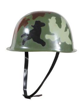 casco comando o militar de camuflaje verde