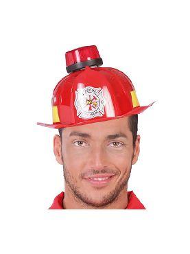 casco de bombero con sirena luz y sonido