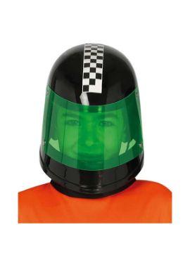 casco de piloto formula 1 infantil negro