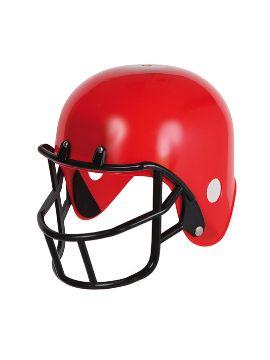 casco de rugby color rojo tamaño adulto plastico