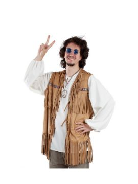 chaleco de hippie para adulto