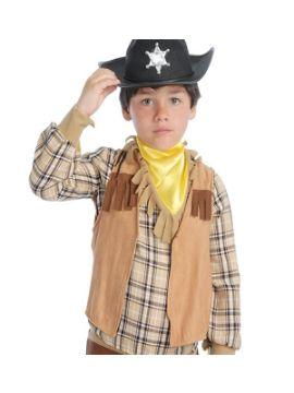 chaleco de vaquero o indio infantil
