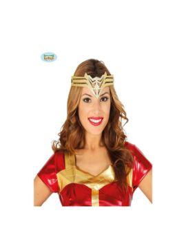 cinta de cabeza super heroina dorada