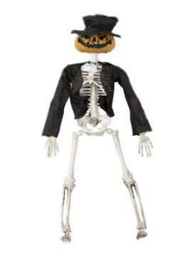 colgante esqueleto con cabeza de calabaza