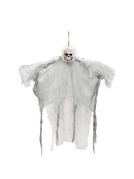 colgante muerte alada gris