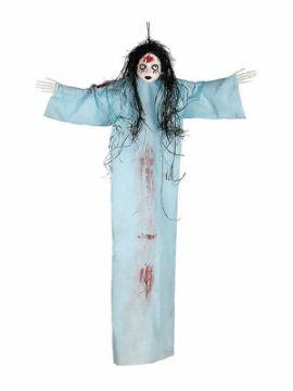 colgante muñeca azul 95 cms para halloween