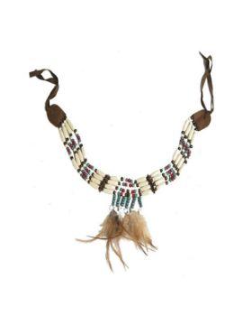 collar de indio con plumas