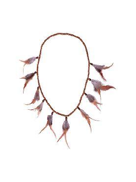 collar indio con plumas de 42 cm