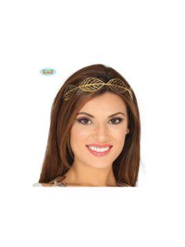 corona con hojas de metal oro