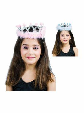 corona de reina con marabu en varios colores