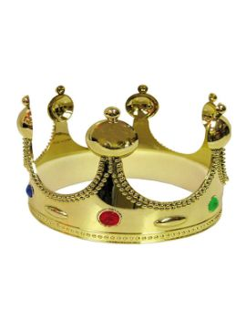 corona de rey dorada de 48 cm