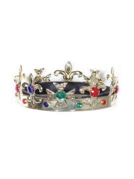 corona de rey medieval metal
