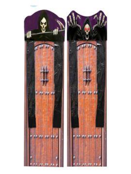 cortina de esqueleto con luz halloween