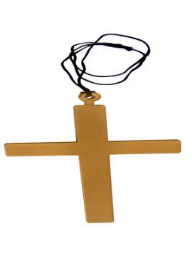 cruz de cura plastico simulando madera 21x13 cm