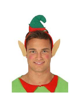 diadema de elfo con gorro y orejas