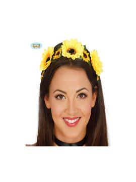 diadema de flores amarillas
