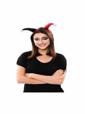diadema de joker rojo y negro