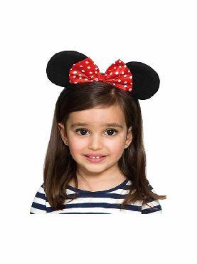 diadema de orejas de ratoncita niña