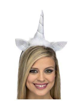 diadema de unicornio blanco