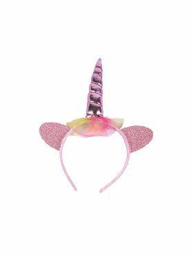 diadema de unicornio rosa infantil