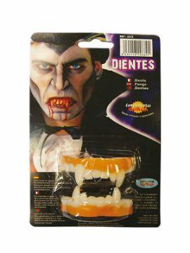 dientes vampiro de latex para halloween
