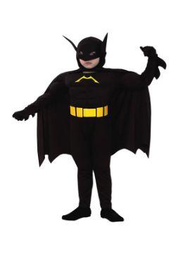 disfraz batman musculoso negro niño