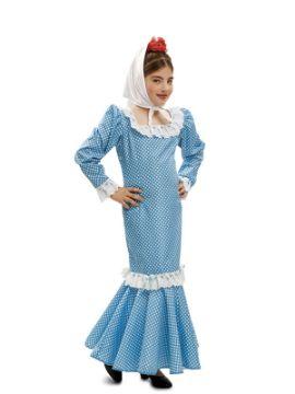 disfraz chulapa o madrileña azul niña