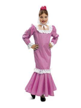 disfraz chulapa o madrileña rosa niña