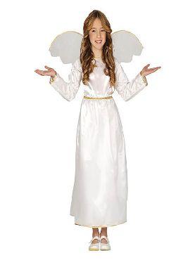 disfraz de angel blanco infantil