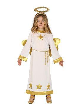disfraz de angel estrellas con alas para niña