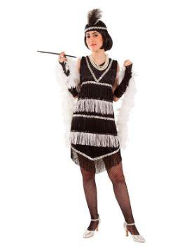 disfraz de años 20 con flecos para mujer