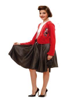 disfraz de años 50 high school niña