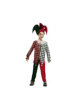 disfraz de arlequin rojo para niño