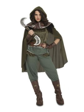 disfraz de arquero medieval enda para mujer