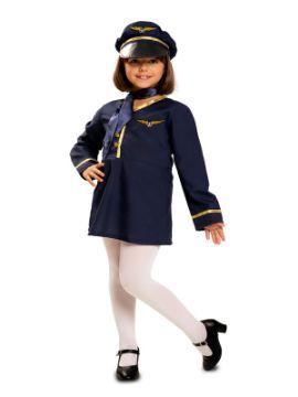disfraz de azafata de vuelo para niña