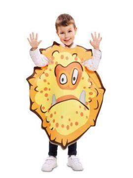 disfraz de bacteria naranja para niño