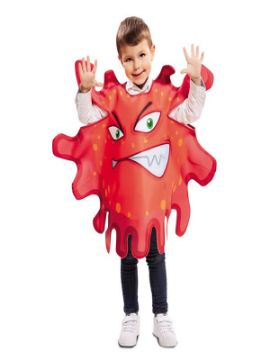 disfraz de bacteria roja para niño