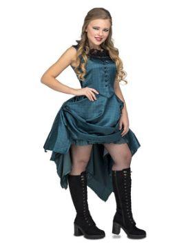 disfraz de bailarina azul de salon para mujer