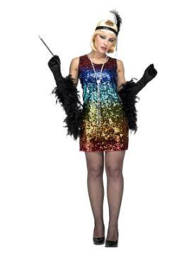 disfraz de bailarina charleston multicolor mujer