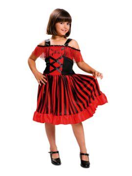disfraz de bailarina de can can para niña