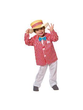disfraz de bert a rayas mary poppins niño