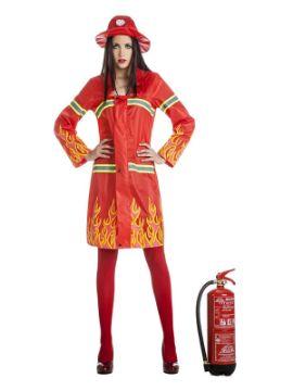 disfraz de bombera llamas mujer