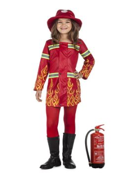 disfraz de bombera llamas niña
