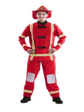 disfraz de bombero rojo hombre