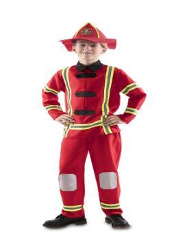 disfraz de bombero rojo para niño
