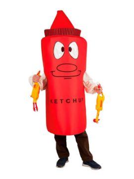 disfraz de bote de ketchup adulto