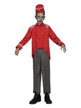 disfraz de botones zombie para niño