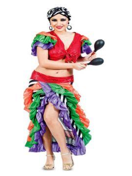 disfraz de brasileña multicolor para mujer