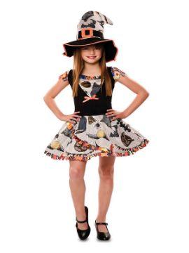 disfraz de bruja divertida para niña
