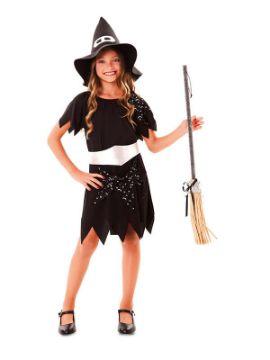 disfraz de bruja negra clasica para niña